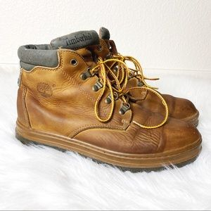 Timberland Men's Tan Leather Work Boots